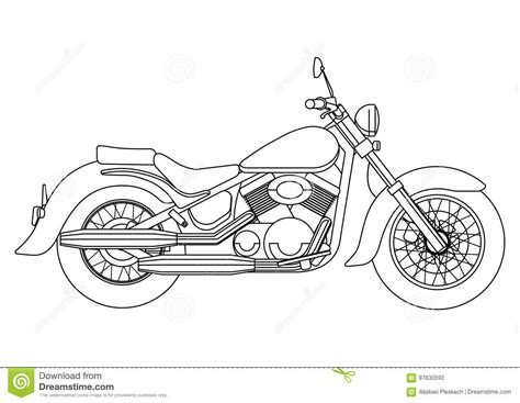 hand draw style   vector  motorcycle illustration