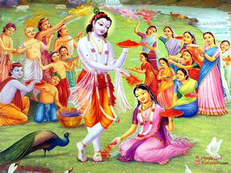 lord krishna playing holi wallpapers