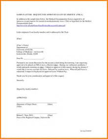 Letter Of Intent Sle For Leave Of Absence School Essays Cheap Editing Services Leave Application
