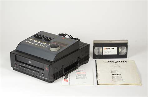 lettore cassette vhs lettore vhs con moviola e mixer veu 100 e audio