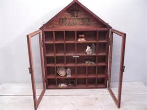 Small Curio Cabinet With Glass Doors Small Wood Curio Cabinet Wall Display Shelf Glass Doors