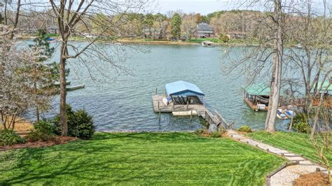 just listed mooresville waterfront home for sale on lake