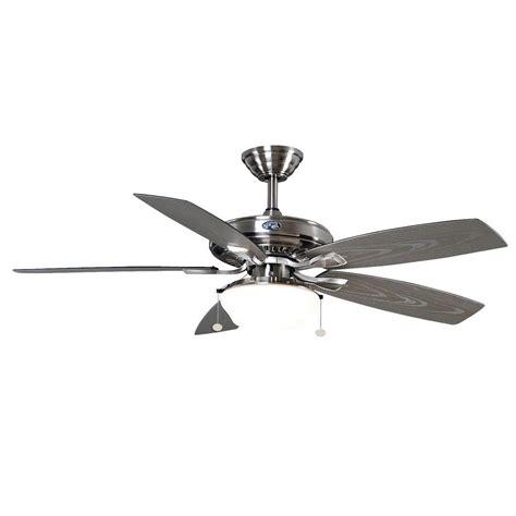 hton bay gazebo ceiling fan hton bay gazebo 52 quot outdoor brushed nickel ceiling fan