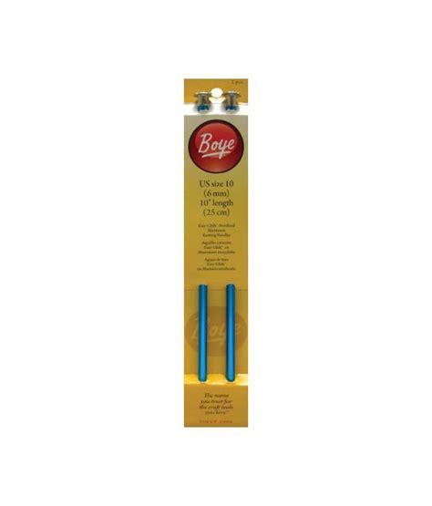 buy knitting needles india boye 10 inch aluminum single point knitting needles size