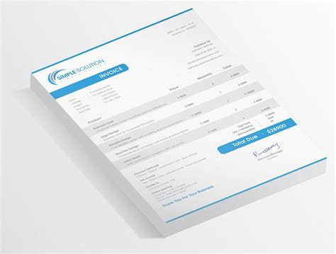 excel layout a4 a4 a4 invoice black blue clean creative customizable