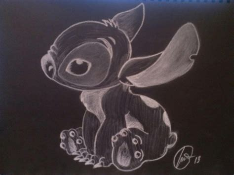 Black And White Chalk Drawings by Experiment 626 Study Of Chalk On Black Paper By