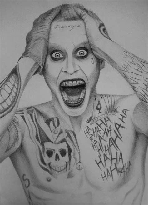 Jared Leto As Joker A4 Pencil Art Pinterest Jared Drawings Of Joker Faces 2