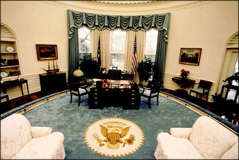 bill clinton oval office decor oval office decor through the years decoratingspecial com