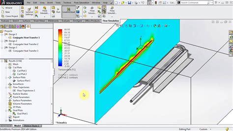 solidworks tutorial heat transfer solidworks flow simulation conjugate heat transfer youtube