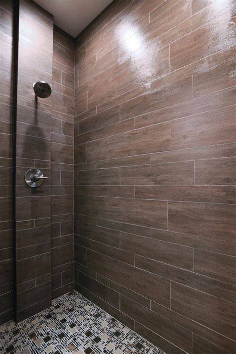 briarwood mocha faux wood shower tile by the tile shop bath pinterest shops this weekend