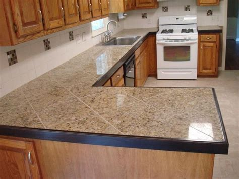 Kitchen Tile Countertops Tiled Counter Tops Granite Tile Countertops In Diagonal Pattern Home Stuff