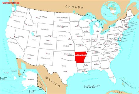 map of the united states arkansas detailed location map of arkansas state arkansas state