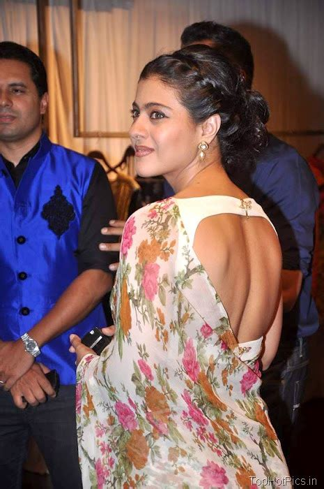 kajol devgan hot   backless saree bollywood