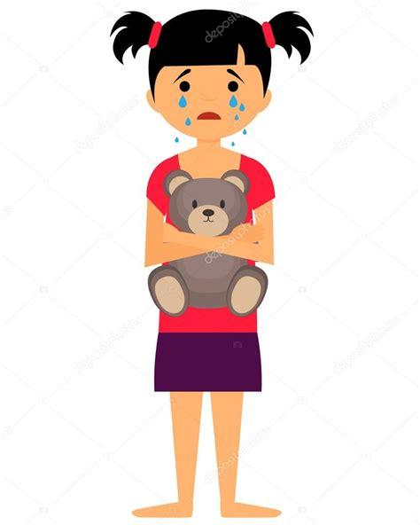 imagenes de niña triste ni 241 a triste llanto y abrazos de oso de juguete