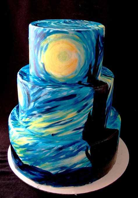 night of cake and starry night display cake cakecentral com
