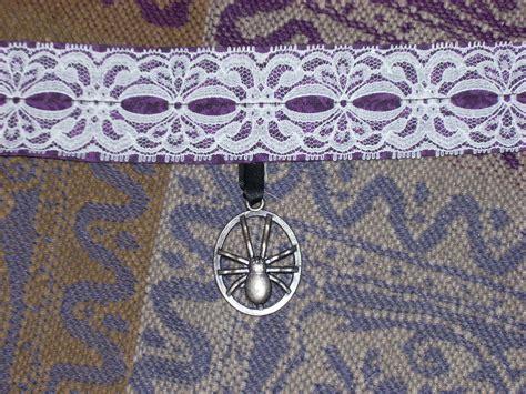Choker Lace 6 spider choker 183 a lace choker 183 jewelry on cut out