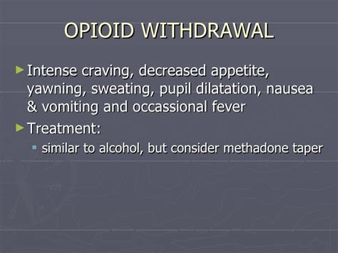 Detox Methadone Taper by Lecture 2 Subatance Abuse