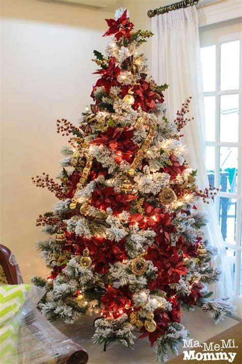 árboles de navidad decorados 2018 arboles de navidad color rojo tendencias 2018 2019