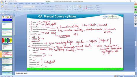 online tutorial for qc qa online training free demo quality assurance testing