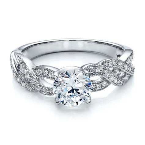 braided pave engagement ring vanna k 100070 bellevue