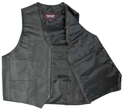 cheap motorcycle leathers plain black leather motorcycle riding vest leather vest