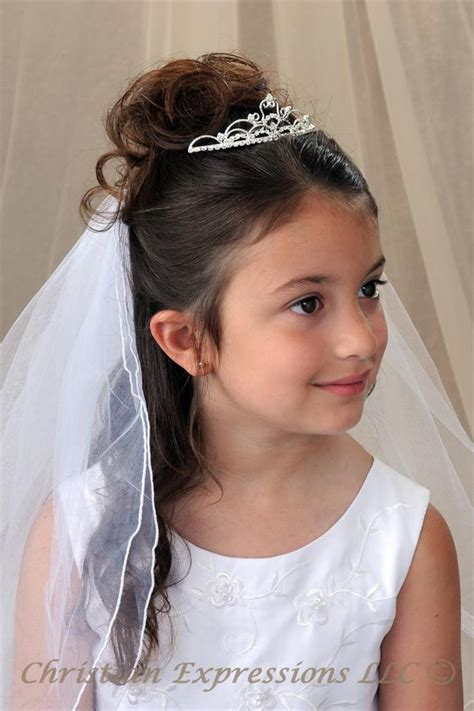 pictures of childrens hair with communion veil irish communion tiaras christian expressions collection
