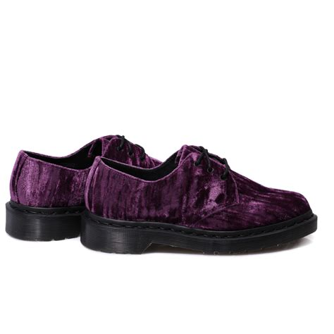 velvet sneakers dr martens women s 1461 purple crushed velvet shoes womens