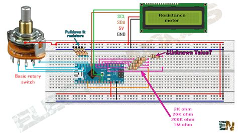 using resistors with arduino arduino resistance meter and lcd screen