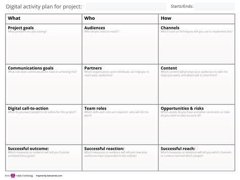 Postbureaucrat Steph Gray Digital Project Plan Template