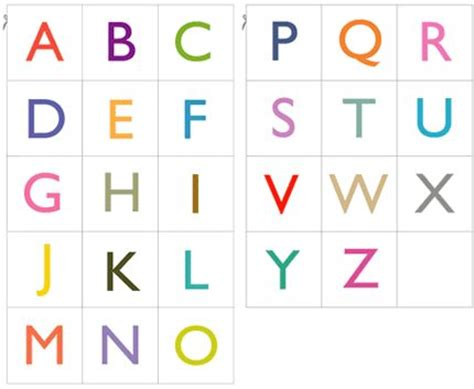printable alphabet squares 2 sets of free pdf with 26 printable alphabet cards in