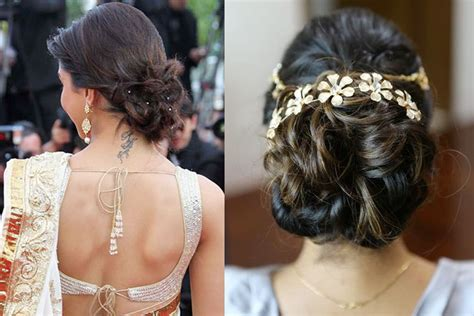 easy to make hairstyles with saree trendiest hair styles to go with every type of sarees you own