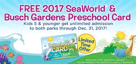 free admission for preschoolers seaworld orlando