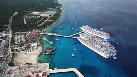 carnival adds third cruise ship berth to cozumel pier