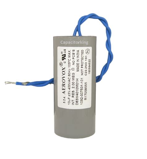 aerovox hid capacitors aerovox lighting capacitor 10uf 400 volt metal halide d83w4010m 4616 p metal