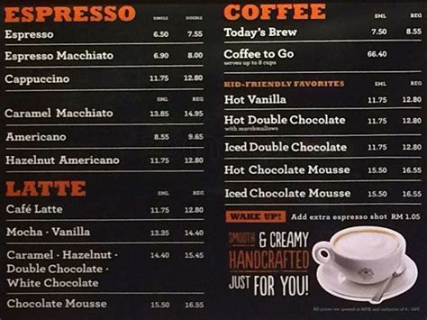 the coffee bean tea leaf menu zomato malaysia