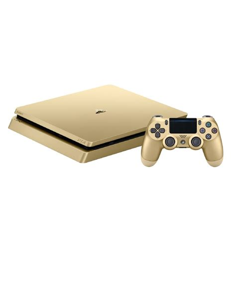 shop ps4 console sony ps4 500gb slim gold console limited edition pre