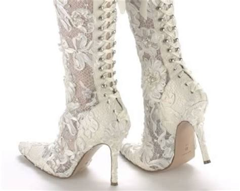 Bridal Shoe Boots by 10 Strange Wedding Shoes Arabia Weddings