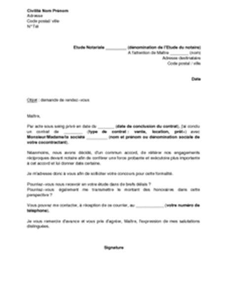 Exemple gratuit de Lettre demande rendez-vous et devis