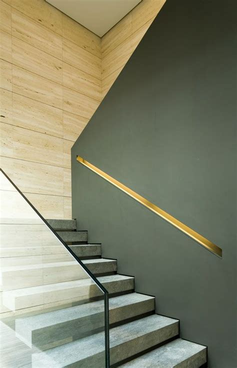 Modern Staircase Wall Design Contemporary Staircase Using Both Glass Handrail And Half Wall With Cap Favorite Places