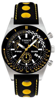 Tissot Sport Yellow Black Leather t91142851 tissot prs516 retrograde quartz chrono mens