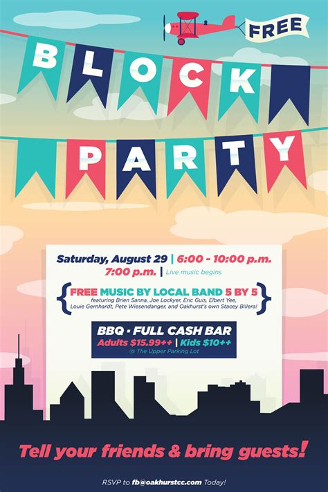 design poster lucu block party flyer poster design template open house