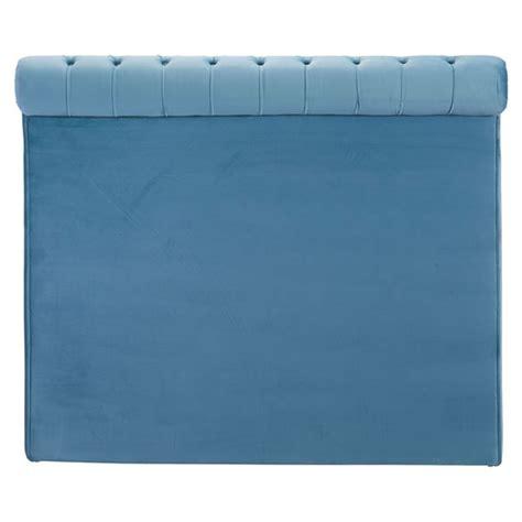 Blue Tufted Headboard Sergio Headboard Tufted Blue Velvet Dcg Stores