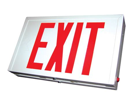 Exit A lit emergency exit sign irent everything