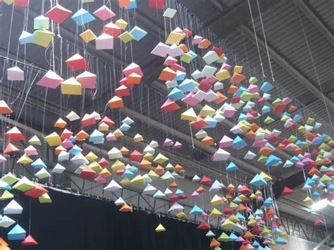 Origami Installation - a peaceful world with origami