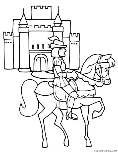 dala horse coloring knight coloring pages