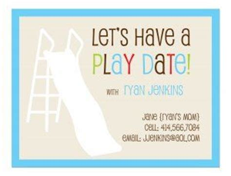 Playdate Cards Printable Template by 16 Best Images About Play Date Invites On Owl