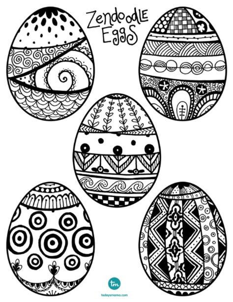 doodle easter egg zendoodle easter egg coloring pages todaysmama