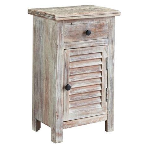 White And Wood Nightstand Charlowe 1 Door Wood Nightstand In White Wash B013 292