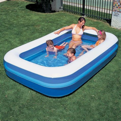rectangular family paddling pool new large rectangular family swimming paddling pool ebay