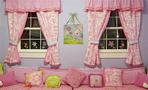 playhouse curtains posh playhouse window bench drapery and pillows